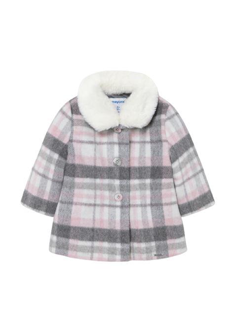 Girl Check Coat MAYORAL | Coats | 2433001