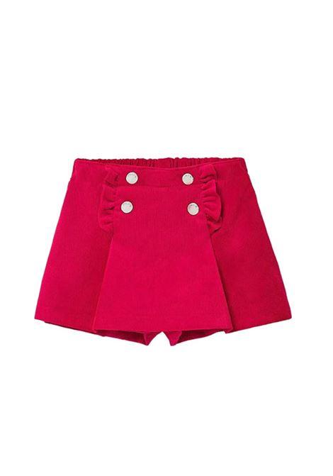 Pantagonna Rouche Bambina MAYORAL | Shorts | 2942BORDEAU