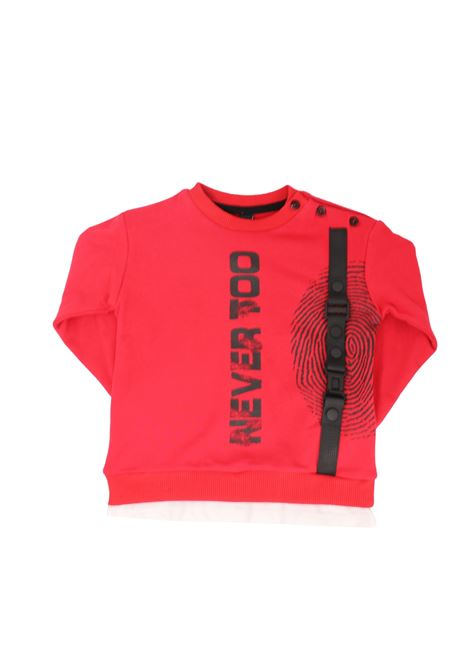 Red Logo Sweatshirt Boy NEVER TOO | Hoodie | NT1146MROSSO