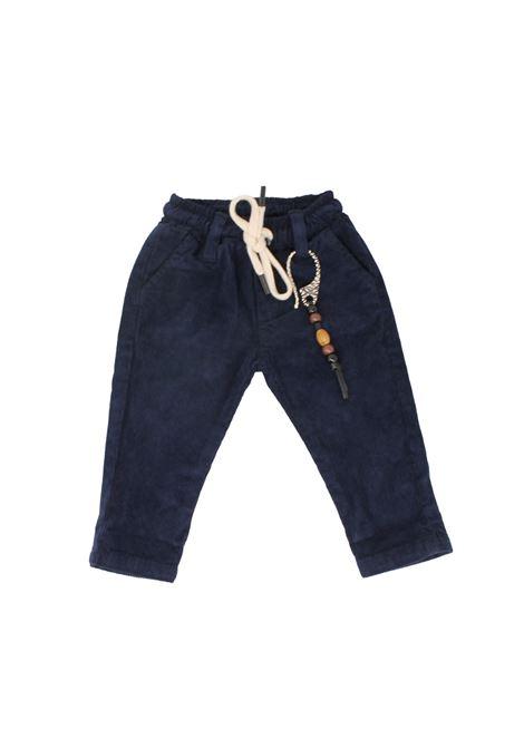 Pantalone Velluto Blu Bambino NEVER TOO | Pantaloni | NT1164PBLU