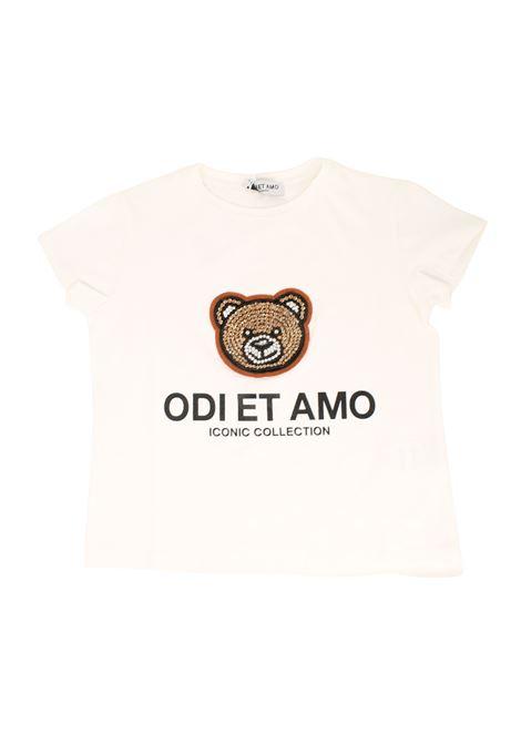 White Teddy Girl T-shirt ODI ET AMO KIDS | T-shirt | ODJTS9790WHM