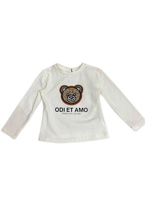 Teddy T-shirt for girls ODI ET AMO KIDS | T-shirt | ODNTS9884WHM