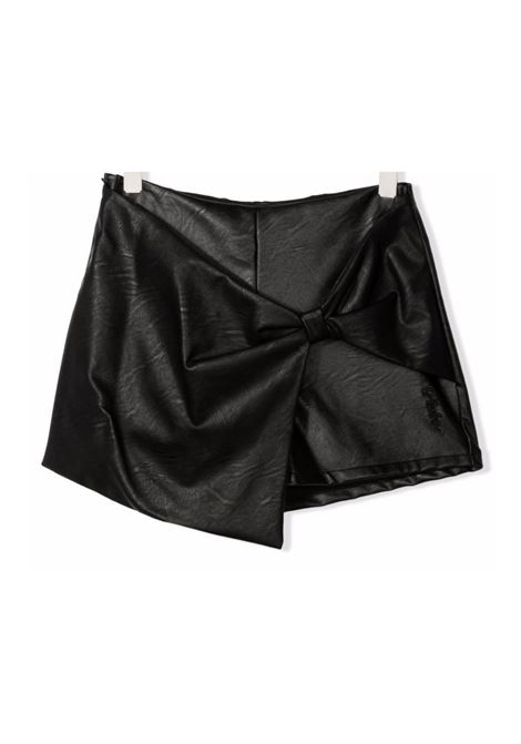 Girl's Faux Leather Bow Shorts PINKO UP   Shorts   028341110