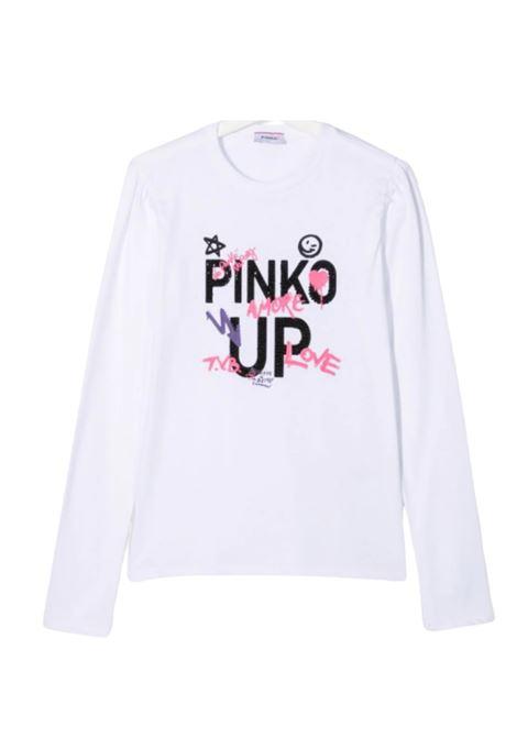 Logo T-shirt for girls PINKO UP | T-shirt | 028356002