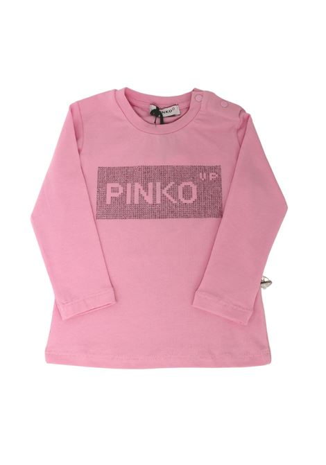 T-shirt Logo Brillantini Girls PINKO UP | T-shirt | 028737042