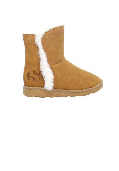 Girl's Faux Fur Boots SUPERGA KIDS | Boots | S8111KWA18 MARRONE