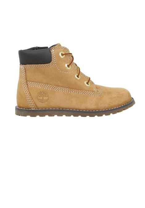 Baby Beige Suede Combat Boots TIMBERLAND KIDS | Amphibians | TB0A125Q2311BEIGR