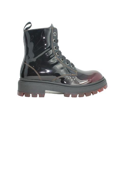 Patent-effect boots for girls TOMMY HILFIGER KIDS | Amphibians | T4A5320171244301BORDEAUX