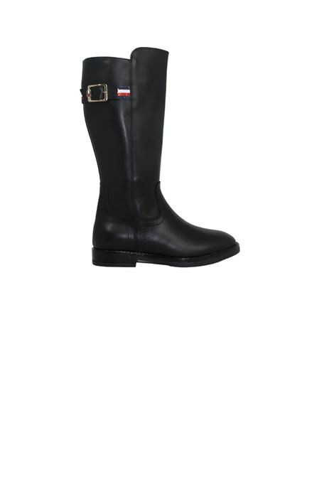 Boots With Glitter For Girls TOMMY HILFIGER KIDS | Boots | T4A5320220283999NERO