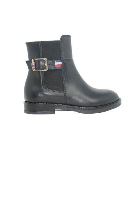 Flat Boots with Glitter for Girls TOMMY HILFIGER KIDS | Boots | T4A6320230283999NERO