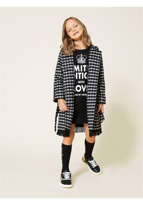 Long Fringed Coat for Girls TWINSET KIDS | Coats | 212GJ212003381