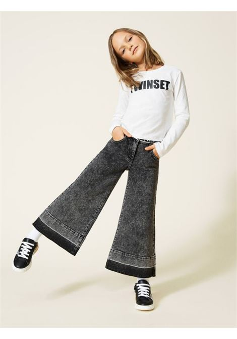 Pantalone Palazzo Denim Bambina TWINSET KIDS | Pantaloni | 212GJ250A00006