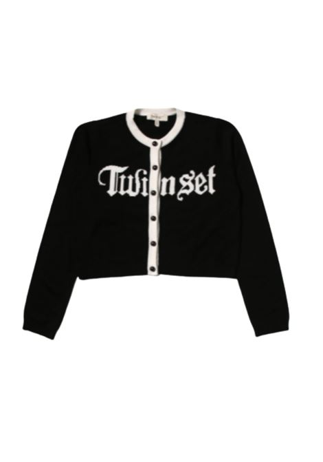 Black White Girl cardigan TWINSET KIDS | Cardigan | 212GJ305A02958