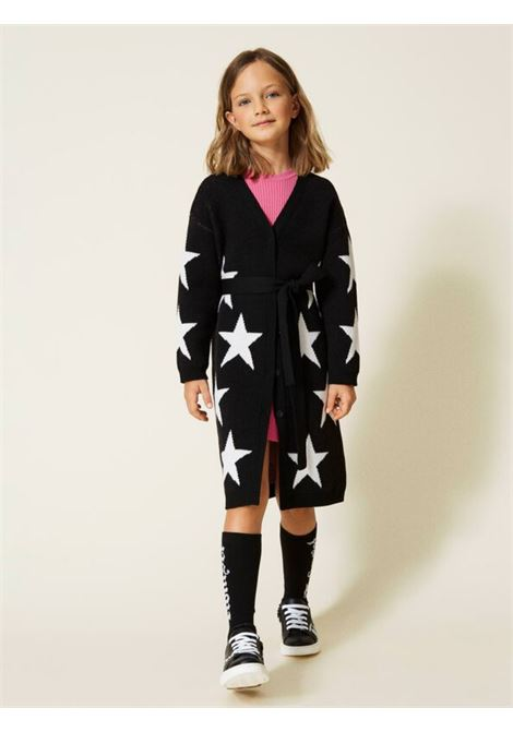 Stars Long Cardigan for Girl TWINSET KIDS | Cardigan | 212GJ319106406
