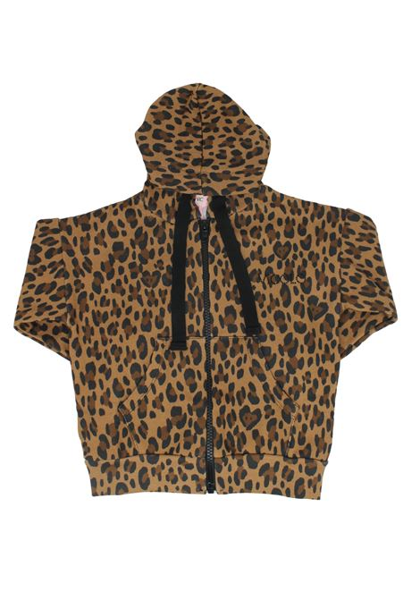 Felpa con Zip Leopardata Bambina VICOLO KIDS | Felpe | 3141F0632BEIGE