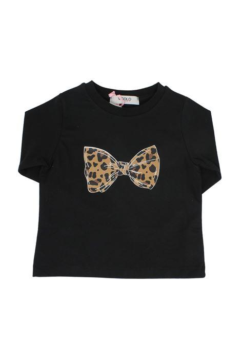 T-shirt Fiocco Bambina VICOLO KIDS | Maglie | 3141M0669NERO