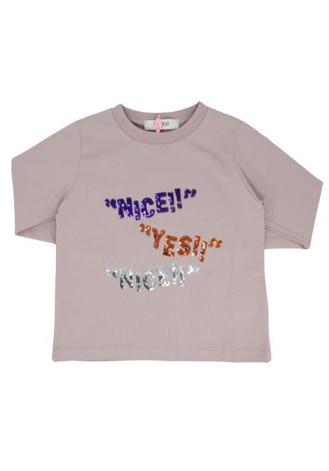 Pink Paillettes Girl Sweater VICOLO KIDS |  | 3141M0768ROSA