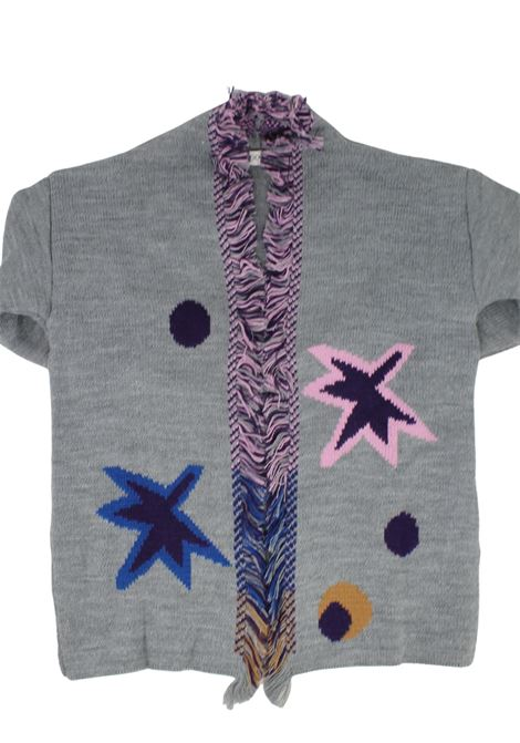 Stars cardigan for girls VICOLO KIDS | Cardigan | 3141W0752GRIGIO