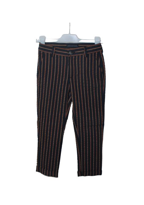Pantalone Bambino Righe DANIELE ALESSANDRINI JUNIOR | Pantaloni | 1235P0861BLU/ARANCIO