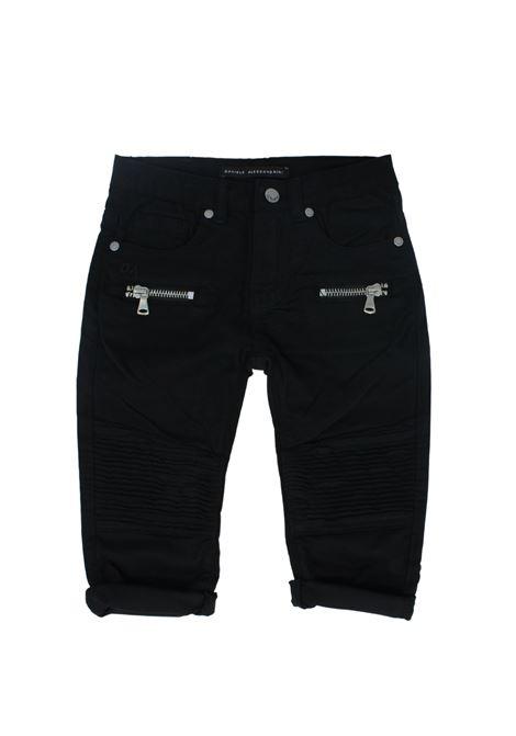 Pantalone Bambino Black DANIELE ALESSANDRINI JUNIOR | Pantaloni | 1295P0654BLACK