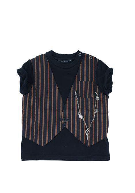 T-Shirt Bambino Righe DANIELE ALESSANDRINI JUNIOR | T-shirt | 1296M0545BLUE
