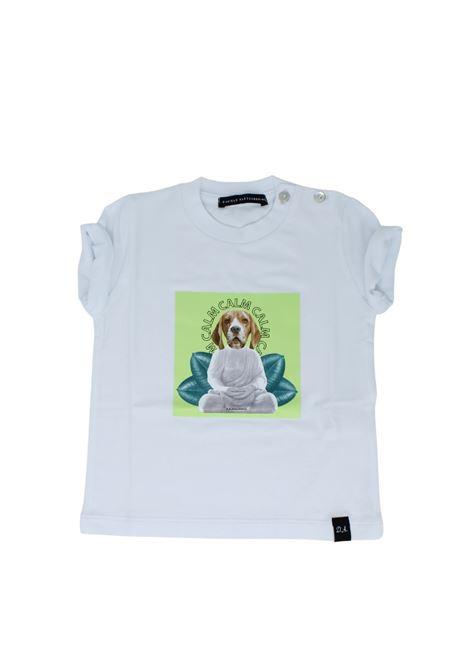 T-Shirt Bambino Dog DANIELE ALESSANDRINI JUNIOR | T-shirt | 1296M0594WHITE