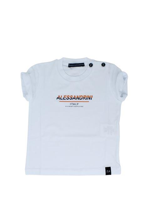 T-Shirt Bambino DA Logo DANIELE ALESSANDRINI JUNIOR | T-shirt | 1296M0603WHITE