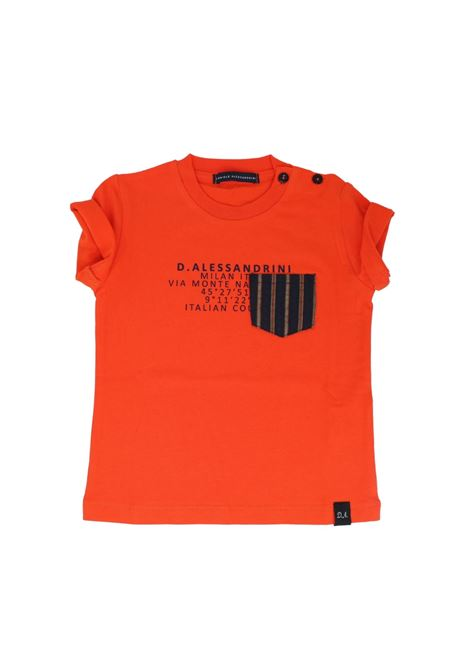T-Shirt Bambino Orange DANIELE ALESSANDRINI JUNIOR | T-shirt | 1296M0613ARANCIO