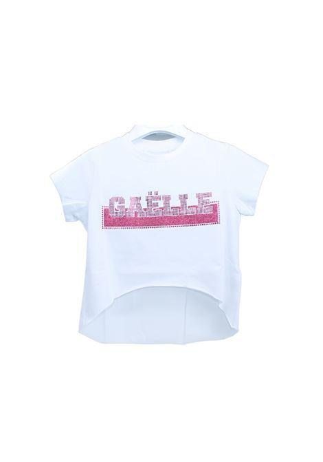 T-shirt Logo Swarovki Bambina GAËLLE PARIS KIDS | T-shirt | 2746M0359WHITE