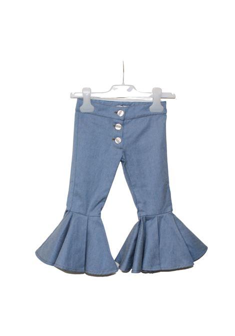 Pantalone Zampa Rouche Bambina GOY AND ZAZA | Pantaloni | C2GBDENIM