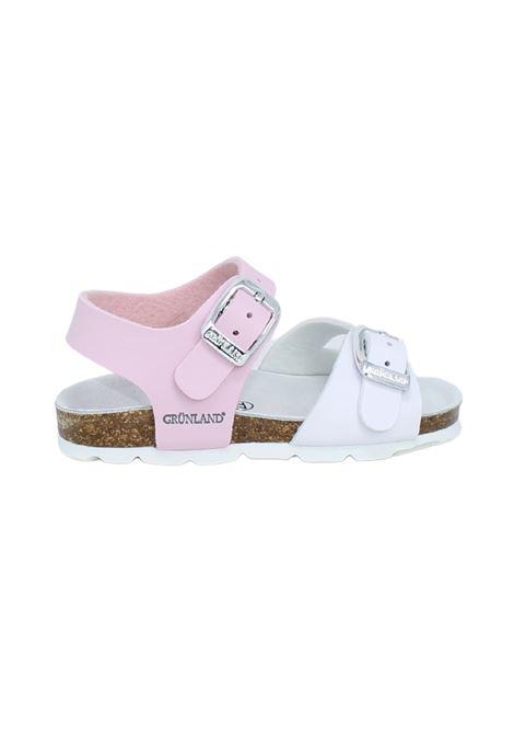 Sandali Bambina Bicolore Rosa e Bianco GRUNLAND JUNIOR | Sandali | 0027FROSA