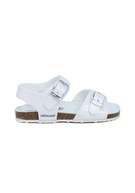 Sandali Bambina Glitter White GRUNLAND JUNIOR | Sandali | 1258GBIANCO