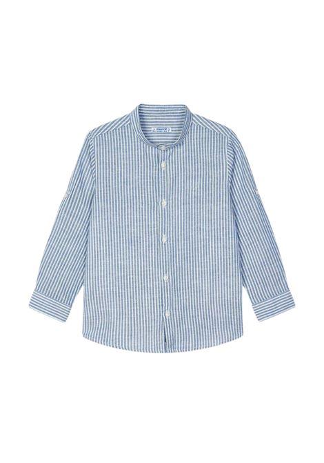 Camicia Coreana Righe Lino MAYORAL | Camicie | 3124093