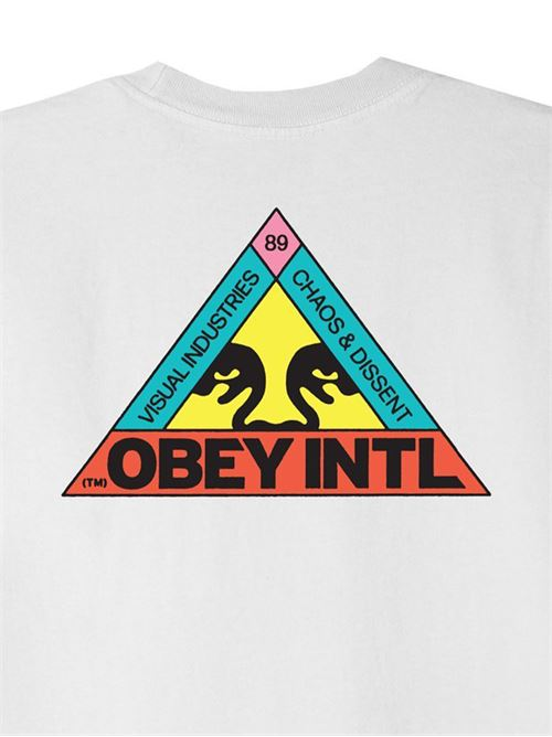 T-Shirt Con Stampa Obey | 22121MC000216WHITE