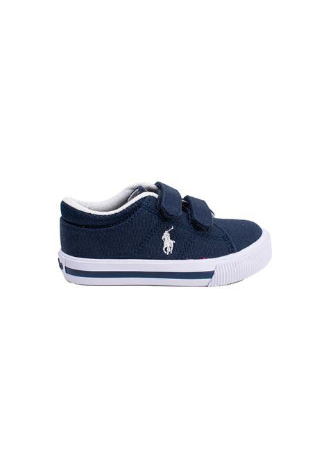Sneaker Bambino Iconica Tela Blu POLO RALPH LAUREN JUNIOR | Scarpe | 12RF102950NAVY