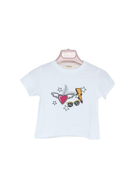 T-Shirt Bambina Fulmine VICOLO KIDS | T-shirt | 3146M0379PANNA