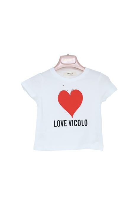 T-Shirt Bambina LOVE VICOLO VICOLO KIDS | T-shirt | 3146M0479WHITE