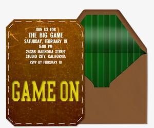 Game On Invitation