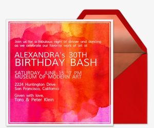 Abstract Canvas Invitation