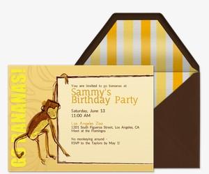 Go Bananas Invitation