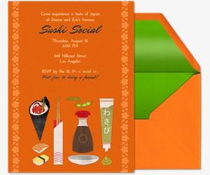 Sushi Social Invitation