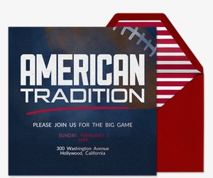 American Tradition Invitation