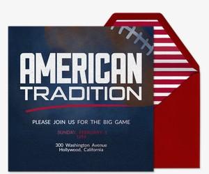 American Tradition Invitation