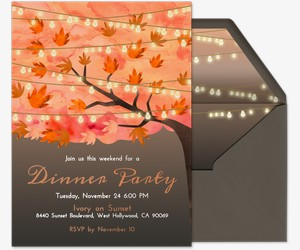 Autumn String Lights Invitation