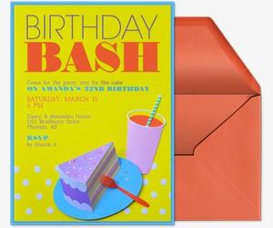 Birthday Slice Invitation
