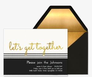 Black and Gold Invite Invitation