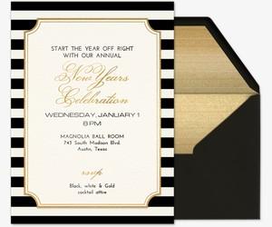 Black White Gold Invitation