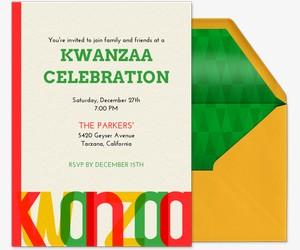 A Bright Kwanzaa Invitation