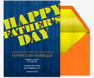 Brighten Dad's Day Invitation