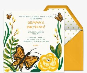 Butterfly Garden Invitation